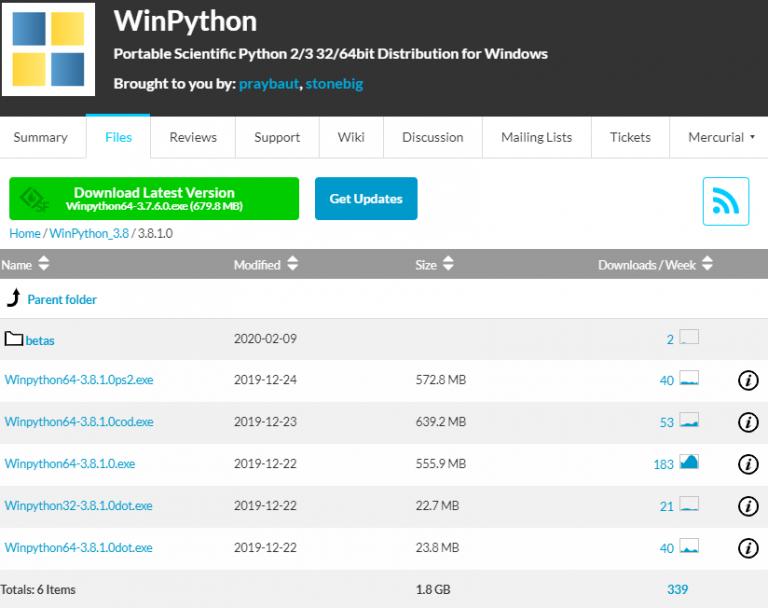 winpython インストール
